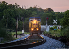 CSX 9001 in Sulphur, KY (Brandon Townley) Tags: railroad sunset kentucky trains signals searchlight sulphur csx ln louisvilleandnashville
