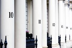 House numbers, London, UK (John A Briody) Tags: uk white house black london nikon numbers d750 railing pillars housenumbers
