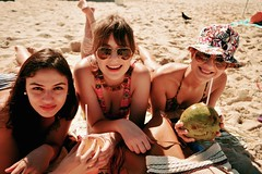 Brazilian Tourists (Leticia Manosso) Tags: girls brazil sun cute water hat sunglasses rio nude de agua janeiro sweet coconut room sunny chilling coco bikini ipanema brach