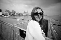 Ally (iampaulrus) Tags: portrait blackandwhite bw film sunglasses ferry liverpool 35mm mono blackwhite lomo lomography 35mmfilm isleofman mersey liverbuilding steampacket filmisnotdead istillshootfilm lcwide paulfargherphotography paulfargher