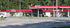 Exxon Gas Station with Shops (micro.burst) Tags: atlanta georgia suburban gasstation storefronts gwinnettcounty snellville pentaxk3 dxoopticspro10