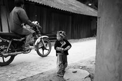 Sa Pa 5 (gsamie) Tags: winter boy blackandwhite mist color rain fog canon vietnam motorbike sapa hmong t3i 600d gsamie guillaumesamie