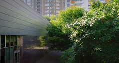 line (pal_sol) Tags: city trees summer urban abstract reflection lights mirror shadows bokeh geometry moscow 85mm line flats volume urbanity canon8518 canon6d