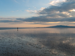 On the edge (Graham Maxwell) Tags: uk sea sky beach water reflections scotland sand mud shore solway criffel firth dumfriesandgalloway dumfriesshire powfoot