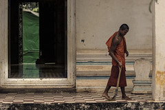 Duties (Enricodot ) Tags: travel boy cambodia monk monks angkor cambogia ilobsterit enricodot