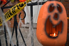 Pumpkin Lantern (teknicolourful) Tags: halloween pumpkin spider jackolantern decoration webs
