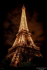 Brightening in the dark (Mariano Colombotto) Tags: nightphotography travel sky paris france tower tourism architecture night lights luces noche arquitectura nikon torre nocturnal eiffeltower eiffel cielo torreeiffel turismo francia travelphotography nikonphotography nikond3300