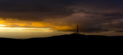Black and Gold Radio Tower (Glen Sumner Photography) Tags: ireland sunset cloud nature silhouette landscape landscapes moody northernireland dramaticsky isolated belfasthills