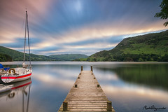 Ullswater Jetty Boats (mpelleymounter) Tags: longexposure lake clouds sunrise landscape boat lakedistrict cumbria thelakes ullswater cloudreflections leend sailingyacht cloudmovement motorlaunch innonthelake privatejetty leefilters ullswaterjetty cumbrialandscape bigstopper leegrad leebigstopper