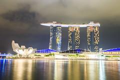(samyaoo) Tags: night singapore long exposure merlion marinabay    gardensbythebay marinabaysands  artsciencemuseum