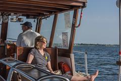 DSC_5911 (Pasquesius) Tags: sea ferry lady island boat barca mare lagoon tourist blonde sicily laguna saline sicilia saltponds isola turista traghetto marsala mozia bionda signora mothia stagnone motya riservanaturaledellostagnone