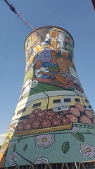 Orlando Cooling Tower (Rckr88) Tags: africa city travel urban tower art industry buildings painting southafrica orlando industrial south paintings cities johannesburg soweto coolingtower cooling jhb gauteng jozi orlandocoolingtower