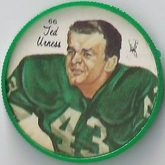 1964 Nalley's Potato Chips CFL Plastic Football Coin - TED URNESS #66-N (Hall of Fame 1989) (Sakatchewan Roughriders / Canadian Football League) (WhiteRockPier) Tags: back football coins caps blank halloffame potatochips hof cfl bclions 1964 winnipegbluebombers saskatchewanroughriders edmontoneskimos calgarystampeders canadianfootballleague nalleys blankback britishcolumbialions tedurness footballcoins footballcaps