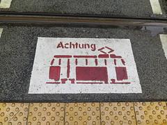 Achtung ! (Jean (tarkastad)) Tags: germany deutschland tram lightrail streetcar allemagne tramway lrt tarkastad strasenbahn