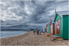 Happiness is... the sand between your toes and best friends by your side. (RissaJT_23) Tags: friends people colour beach water clouds canon sand brighton friendship brightonbeach beachhuts bathingboxes canon1740mm canon6d canoneos6d