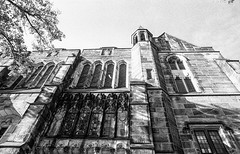 High Constrast (vpastro) Tags: blackandwhite newyork film church monochrome architecture contrast shadows manhattan wideangle stjohnthedivine nikonfe morningsideheights orangefilter kodak400tx nikkor24mmf28ai synodhouse