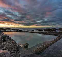 Duplicated (Crouchy69) Tags: ocean sea sky seascape water pool clouds sunrise landscape dawn coast rocks long exposure harbour australia nsw wollongong