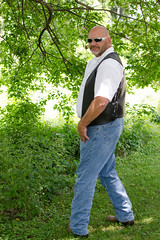 HenryBW-4x6-9406 (Mike WMB) Tags: bear portrait leather goatee bald shades vest cowboyboots