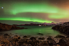The Land of Dreams 3600 (kbaranowski) Tags: winter mountain mountains nature norway island colorful arctic spirituality northernlights auroraborealis troms beautyinnature northernnorway kvaloya sommaroy