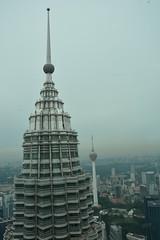 The towers of Kuala Lumpur (kavyaphotography) Tags: city travel building tower monument petronas explore malaysia kuala kl menara lumpur malaysiatourism trulyasia