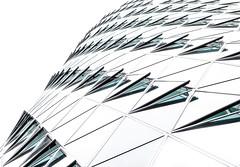 geometrical patterns (Ralf Pelkmann) Tags: tower nikon pattern frankfurt structure highkey westhafen d810
