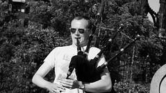 band on the Mound 04 (byronv2) Tags: blackandwhite blackwhite bw monochrome candid street performer music musician band streetperformer mound summer sunshine sunny sun sunlight edinburgh edimbourg scotland newtown princesstreet princesstreetgardens man sunglasses bagpipes