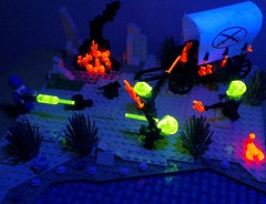 CowboysvAliens (Pizzareno) Tags: lego aliens cowboys blacklight western space