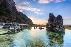 _MG_0013 (Nguyn nh Thnh) Tags: longexposure sunset sea mountain water sunrise rocks asia seascapes cloudy vietnam filter asean quangngai lyson singhray thachkydieutau