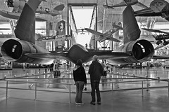 Air & Space in Black & White (Mondmann) Tags: blackandwhite bw usa america airplane virginia unitedstates aircraft jet blackbird nationalairandspacemuseum sr71 chantilly stevenfudvarhazycenter lockheedsr71blackbird mondmann reconaissanceaircraft fujifilmx100s fastestjetpropelledaircraft