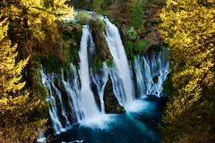 Burney Falls Overlook (circleyq) Tags: california statepark blue sunlight tree water landscape waterfall nikon frame shasta waterscape burneyfalls nikon24120 nikond800