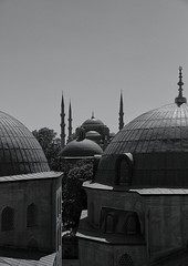 Domes and minarets. 13/10/13. (pedallingfree) Tags: turkey istanbul domes minarets