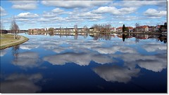 View from Boden (HJsfoto) Tags: city sky water reflections reflexions boden musictomyeyes bodtrsket