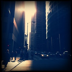 As the day sets off !!! (vikramav) Tags: light chicago downtown streetphotography cityscapes sunsets iphone mobilephotography