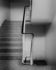 Stairway (Lapsklaus) Tags: abstract monochrome architecture interiors stairwell stairway indoors railings