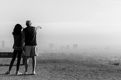 Something From Below Catches Their Eye... (V.A.P. Photography) Tags: county city sky canon 50mm losangeles haze view hiking horizon canyon hills dirt hikers runyon t4i discoverla