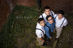The Perez Boys (Kyle John F.) Tags: city family people silly men boys goofy portraits canon john kyle ties fun happy nc funny lads brothers north hats suit carolina ww2 males suspenders forties fairfield fayetteville 40s perez 2470mm 40d