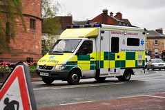 North West Ambulance Service's A009, PX55 DHV, (4). (Raymondo166) Tags: city west call very no centre north blues ambulance crescent service around dhv reg carlisle speeding important the twos a009 px55