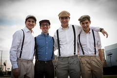 The Perez Boys (Kyle John F.) Tags: kyle john fairfield canon 40d 2470mm people portraits perez men boys males fayetteville nc north carolina city family happy funny goofy silly fun 40s forties ww2 lads suspenders hats suit ties
