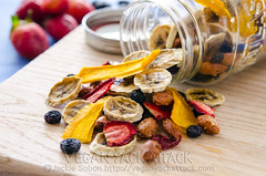 Tropical Trail Mix (Yack_Attack) Tags: recipe vegan healthy mix raw berries banana trail mango snack vegetarian tropical easy glutenfree dairyfree dehydrator soyfree veganyackattack