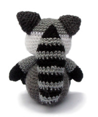 Zebedee the Raccoon (Patchwork Moose) Tags: pattern crochet raccoon amigurumi