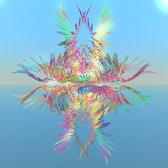 Feathers (vivienrk) Tags: blue digital feather fractal incendia