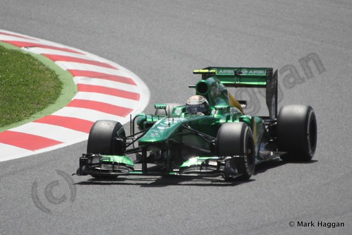 Giedo van der Garde in The 2013 Spanish Grand Prix