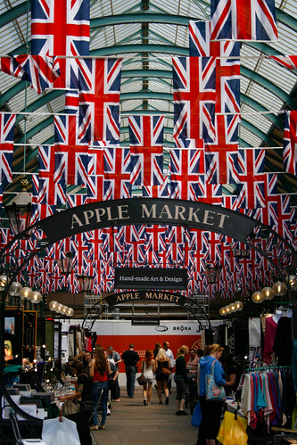 Jubilee Decorations in Covent Garden