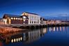 Antigua Rula de Gijón (DeLaTorre ´73) Tags: blue españa water azul coast spain arquitectura agua gijón asturias cimadevilla anochecer rula reflejos reflects cantábrico principadodeasturias nikond90 horaazul waterenvirons