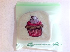 Cupcake (D Laferriere) Tags: art bag drawing sandwich cupcake sharpie attleboro sandwichbag drawrs laferriere biobag drawr sandwichbagart