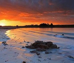 Mellon Udrigle Sunset. (Gordie Broon.) Tags: ocean houses light sunset sea seascape beach nature clouds geotagged photography scotland scenery rocks alba scenic may escocia schottland westerross ecosse 1740l scozia laide scottishhighlands beautifulsunset 2013 mellonudrigle gruinardbay gordiebroon scottishwesternhighlands canon5dmklll