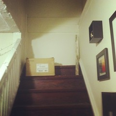 A staircase to Nowhere (Graduate Study at Columbia College Chicago) Tags: logansquare basementapartment poetryparty poetryfriends