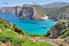 View of Cala Domestica beach, Sardinia, Italy (clickonsailing) Tags: sardegna travel blue sea summer vacation sky italy panorama tourism beach water sailboat landscape coast boat mediterranean sardinia view yacht tourist boating sail leisure recreation yachting buggerru caladomestica