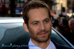 Paul Walker (iron_smyth48) Tags: red portrait white man celebrity film smile face shirt hair carpet star eyes tie event jacket actor premiere celeb