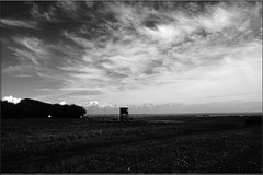 Watch Tower - Bradwell (PaulHP) Tags: white black tower monochrome watch essex bradwell bradwellonsea dengiepeninsula